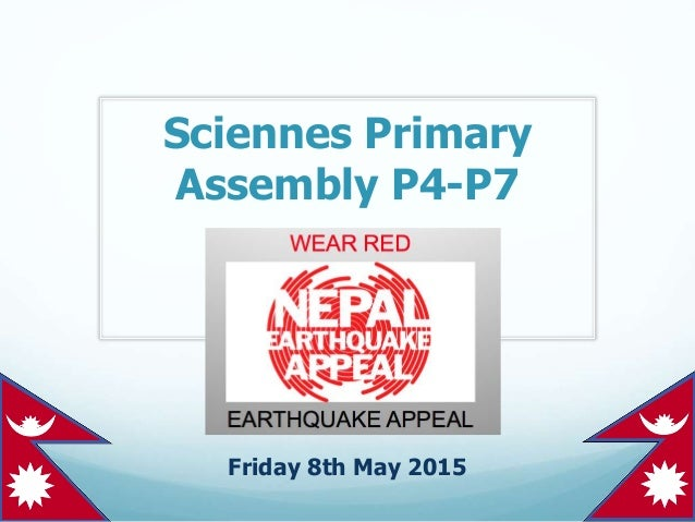 Sciennes Primary Assembly P4-P7 Friday 8th May 2015