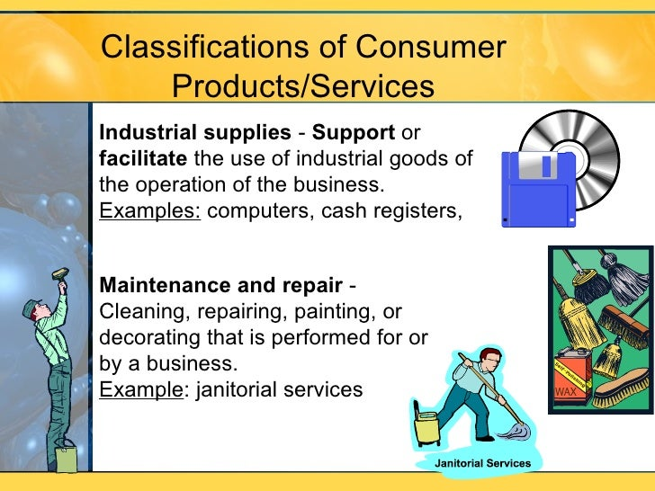 m9 l3 classification of products services
