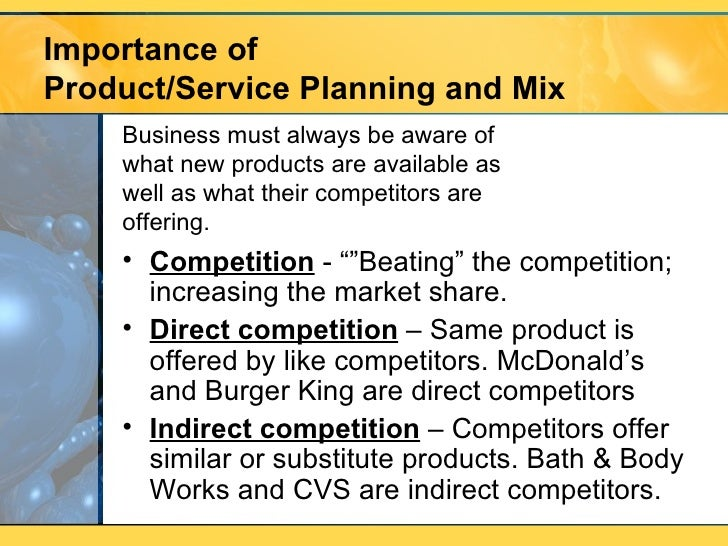 Different product and services offered by mcdonalds