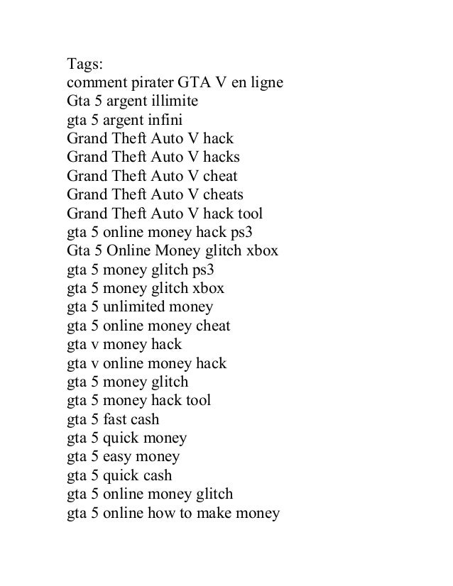 code ps3 gta v argent