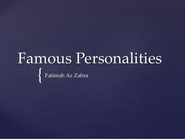 { Famous Personalities Fatimah Az Zahra