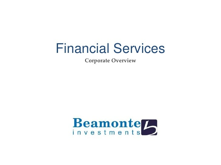Financial Services<br />Corporate Overview<br />