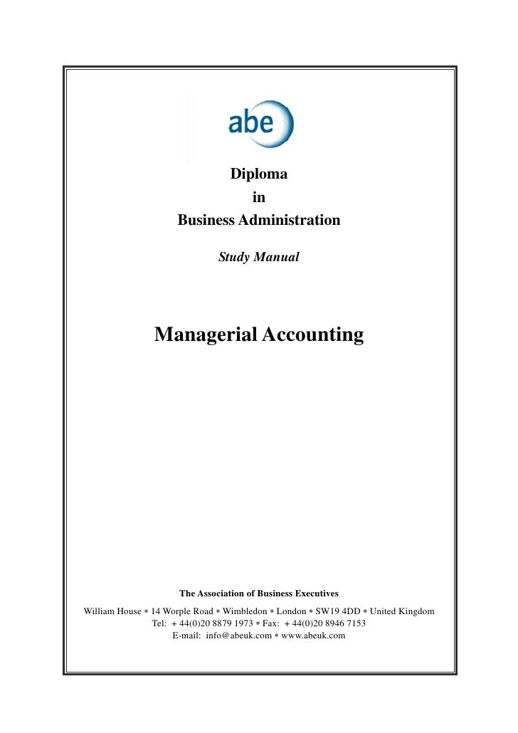 Diploma                               in                     Business Administration                              Study Ma...