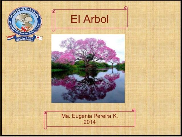 Ma. Eugenia Pereira K. 2014 El Arbol