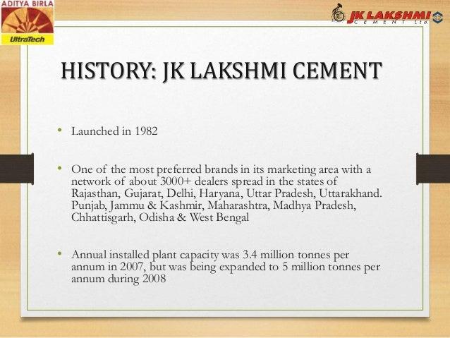Ultratech Cement History : M a ultratech jk lakshmi
