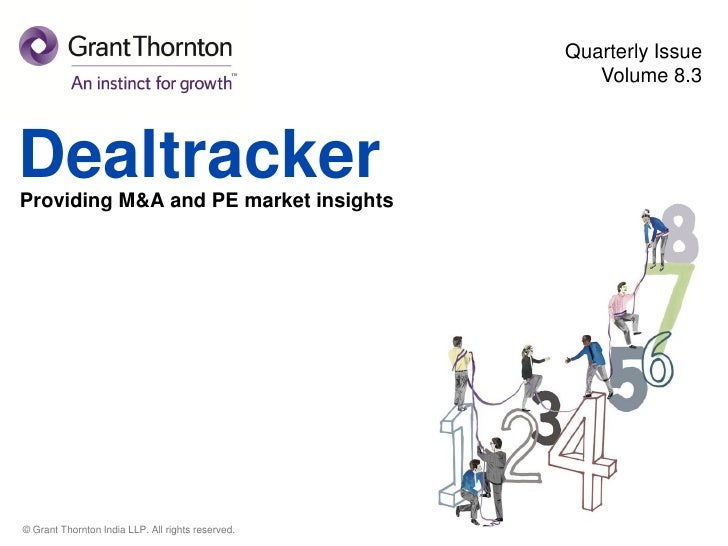 Quarterly Issue                                                      Volume 8.3DealtrackerProviding M&A and PE market insi...