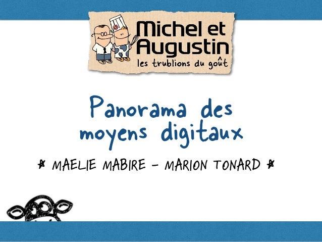 < MAELIE MABIRE - MARION TONARD < Panorama des moyens digitaux