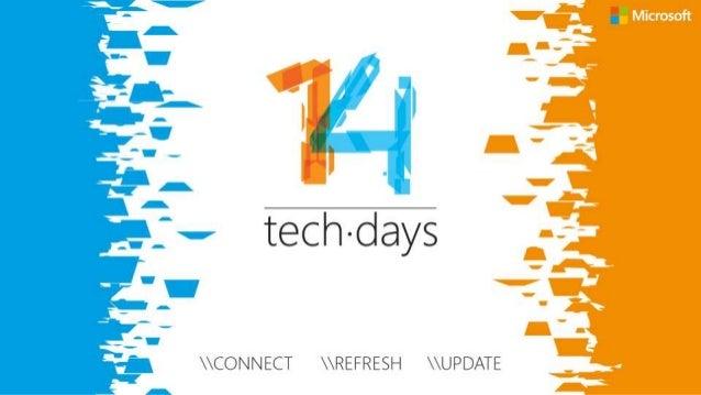 Laat ons weten wat u vindt van deze sessie! Vul de evaluatie in via www.techdaysapp.nl en maak kans op een van de 20 prijz...