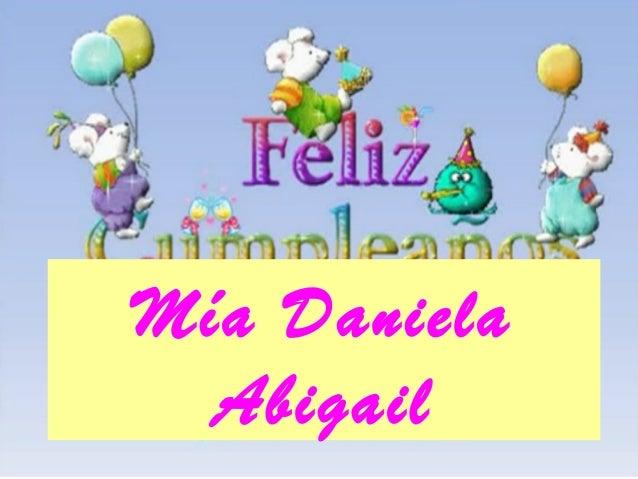 Mía Daniela Abigail