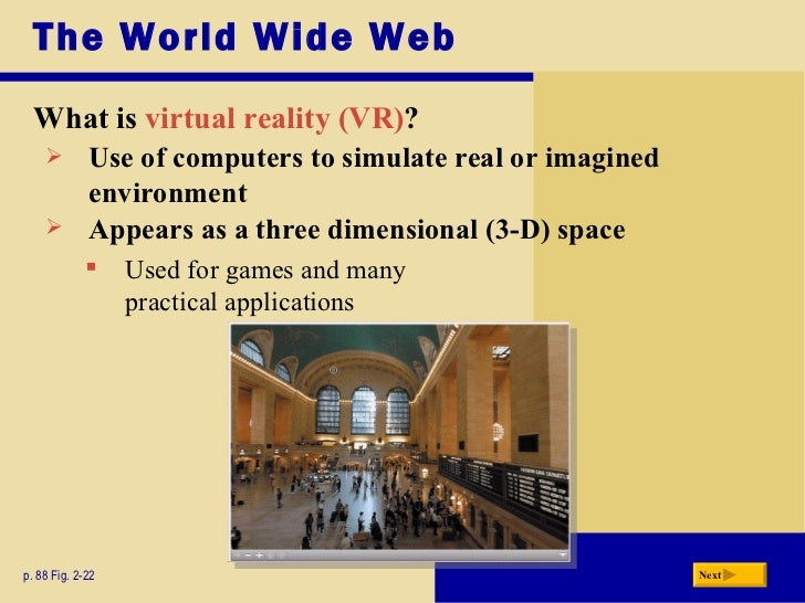a history of the virtual reality interfaces in the world wide web Webvr: a virtual reality interface for the world wide web title: webvr: a virtual reality interface for the world wide web: publication type: conference proceedings.