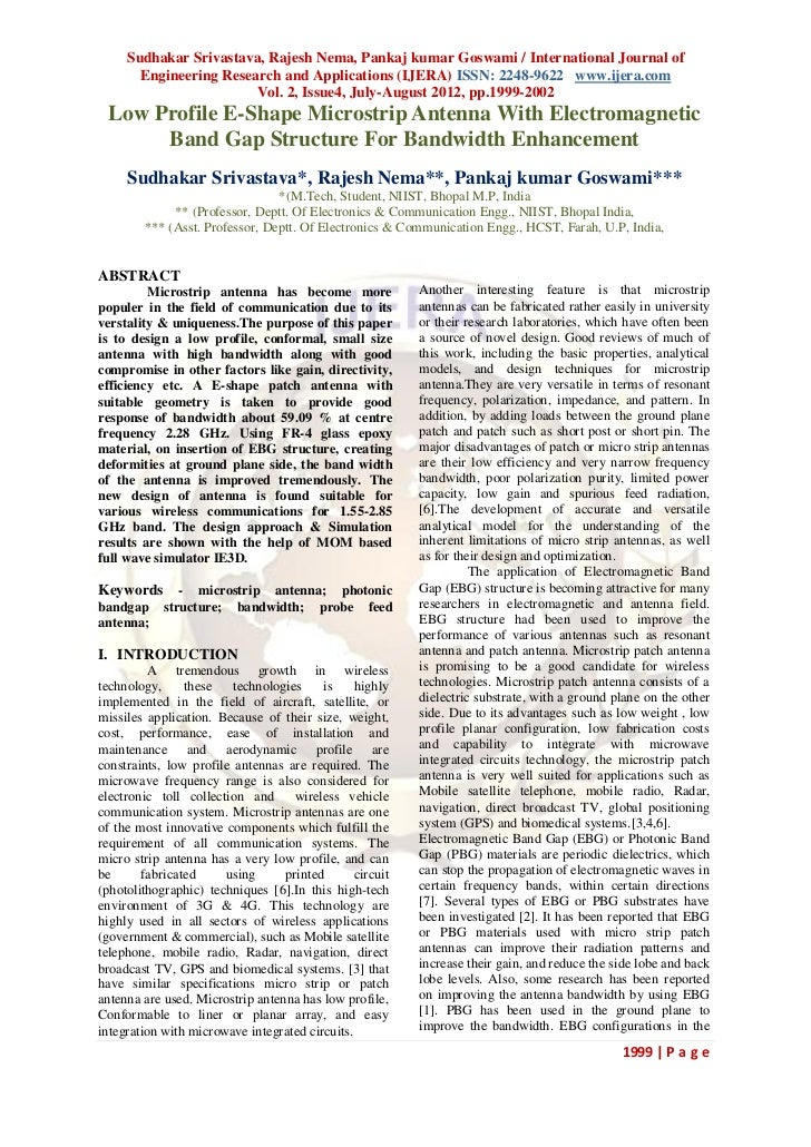 Sudhakar Srivastava, Rajesh Nema, Pankaj kumar Goswami / International Journal of       Engineering Research and Applicati...