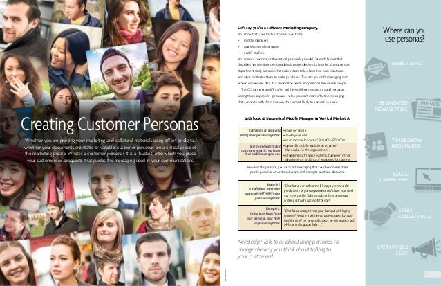 Let's say you're a software marketing company. You know that your best customers tend to be: • middle managers, • qualit...