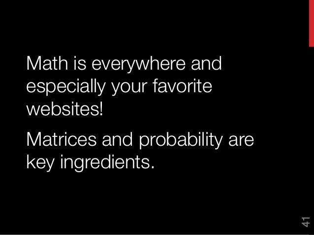 Math behind online dating