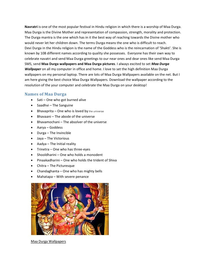 Navratri is one of the most popular festival in Hindu religion in which there is a worship of Maa Durga. Maa Durga is the ...