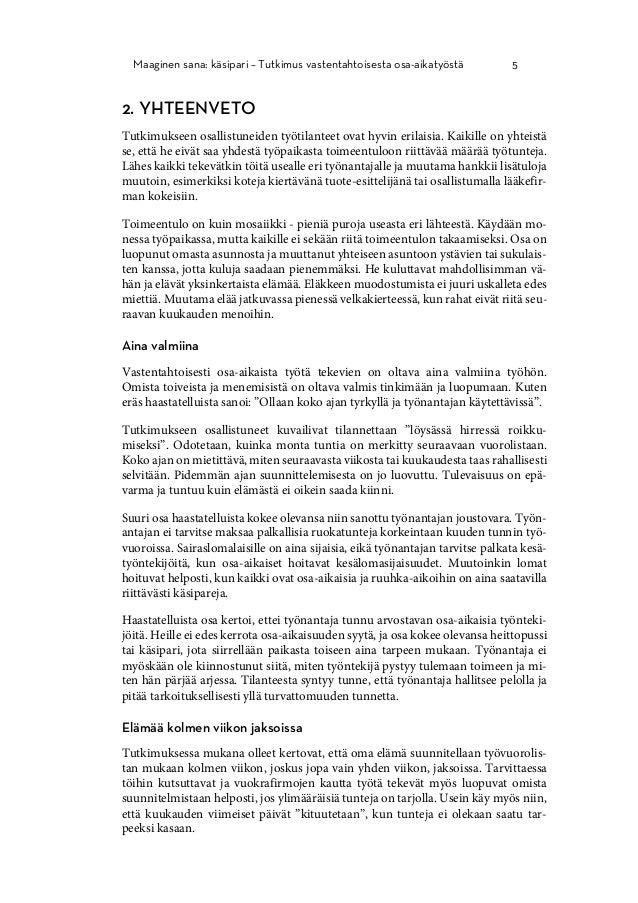 Maaginen sana  käsipari - Tutkimus vastentahtoisesta osa-aikatyöstä be214af4e1