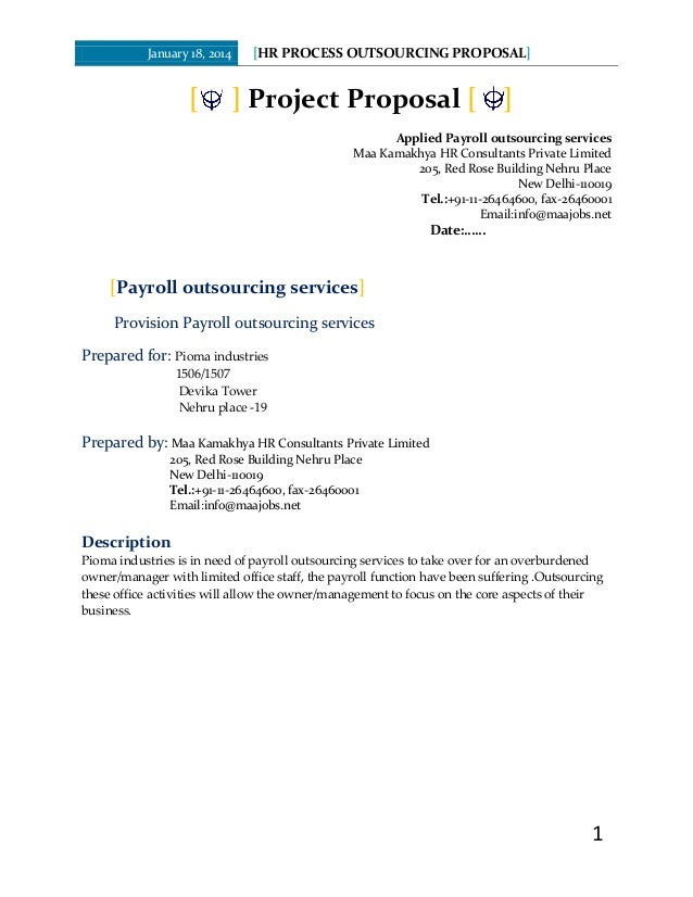 outsourcing proposal template - Ataum berglauf-verband com