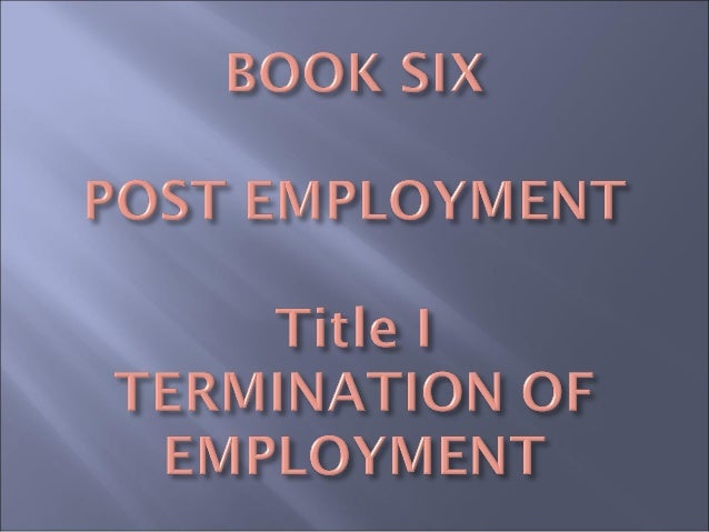 WHAT IS TERMINATION?