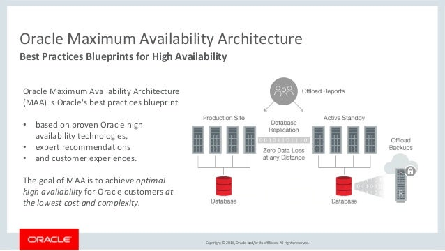 Oracle MAA (Maximum Availability Architecture) 18c - An Overview