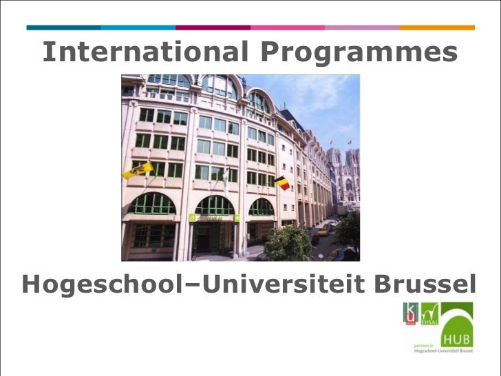 International ProgrammesHogeschool–Universiteit Brussel