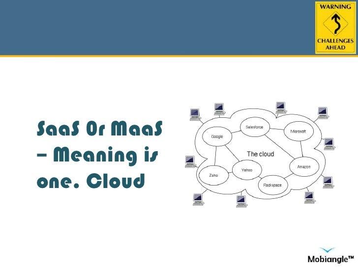 SaaS 0r MaaS – Meaning is one. Cloud<br />
