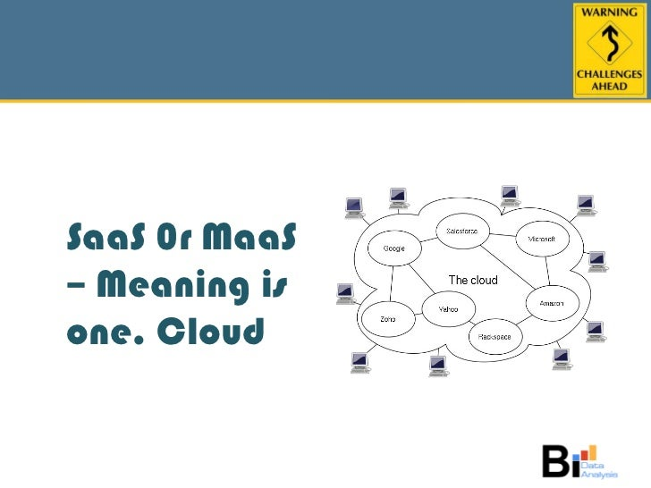 SaaS 0r MaaS – Meaning is one. Cloud