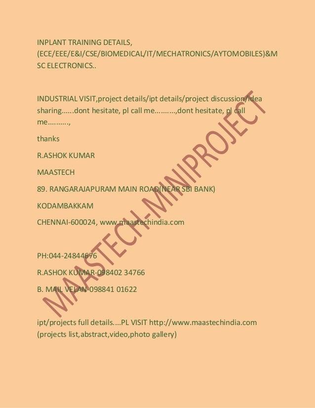 Ece Mini Projects List