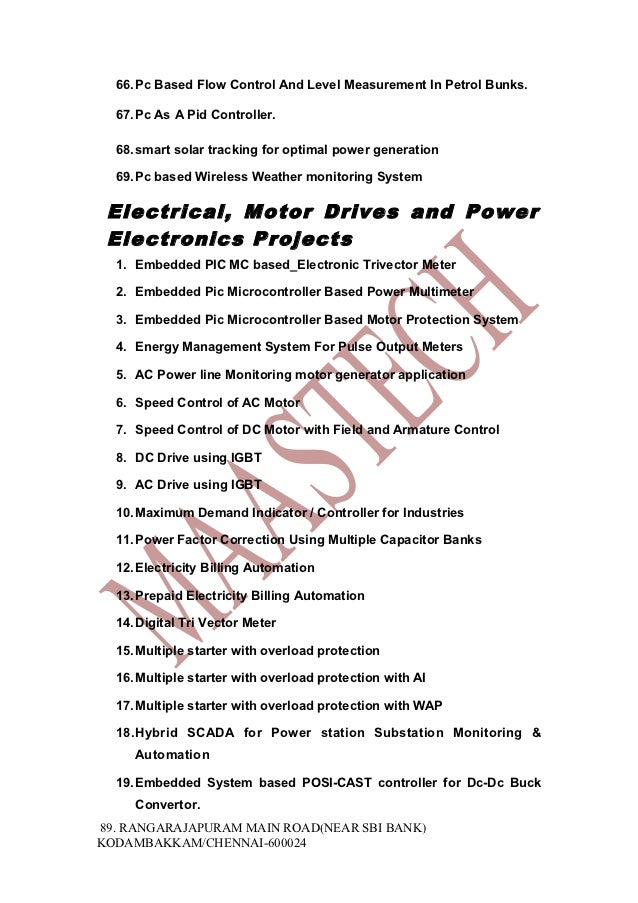 Final Year Embedded Systems Projects Hardware Projects Kit