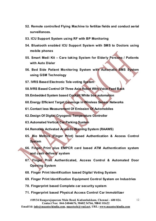 Electrical Project List For Diploma Students Deee Dece