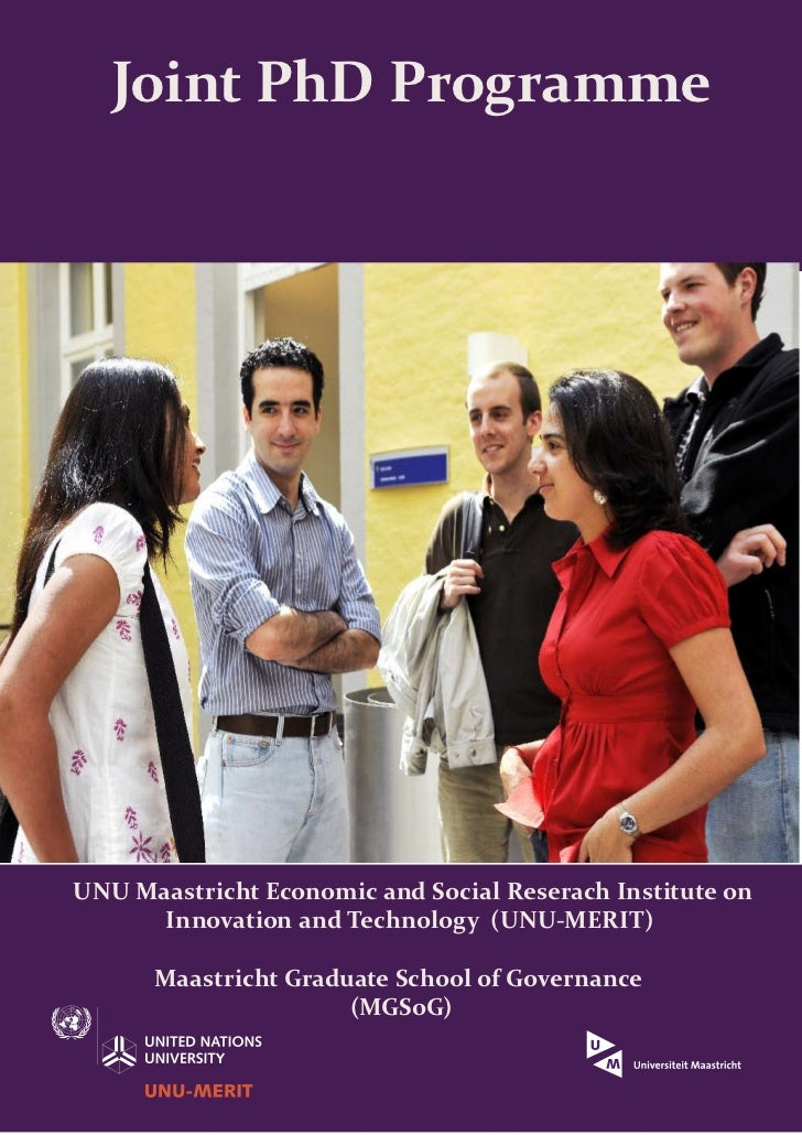 Joint PhD Programme                                                           Image by Preconscious EyeUNU Maastricht Econ...