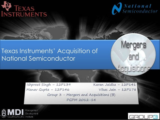 1 Texas Instruments' Acquisition of National Semiconductor