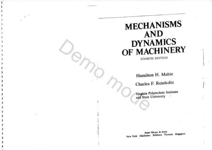 mechanisms and dynamics of machinery 4 ed rh slideshare net