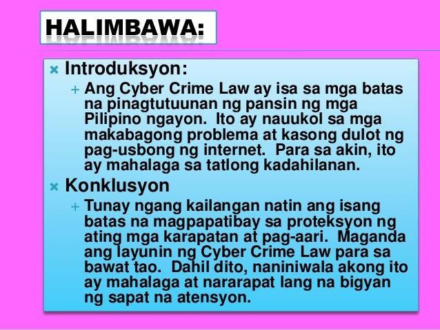 kahalagahan ng cybercrime law essay