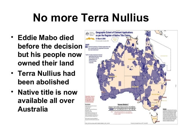 terra nullius In the shadow of terra nullius rear vision traces the story of australia's  relationship with its indigenous people — from the time of federation.