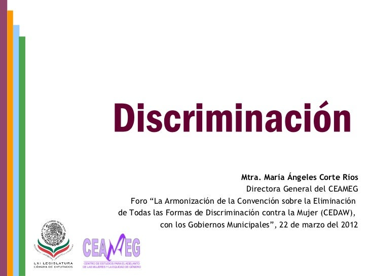 """Mtra. María Ángeles Corte Ríos                                  Directora General del CEAMEG   Foro """"La Armonización de la..."""