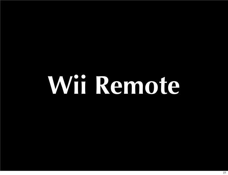 Wii Remote             21