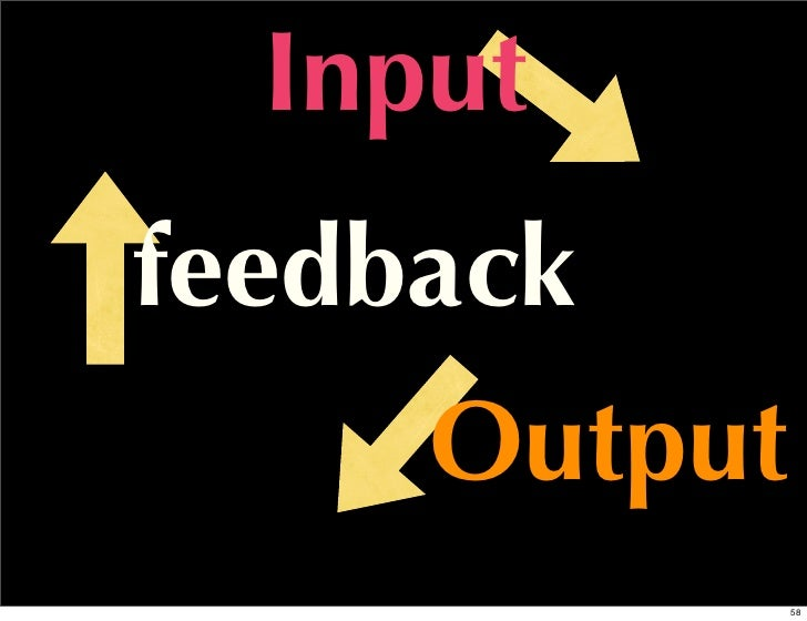 Inputfeedback     Output              58