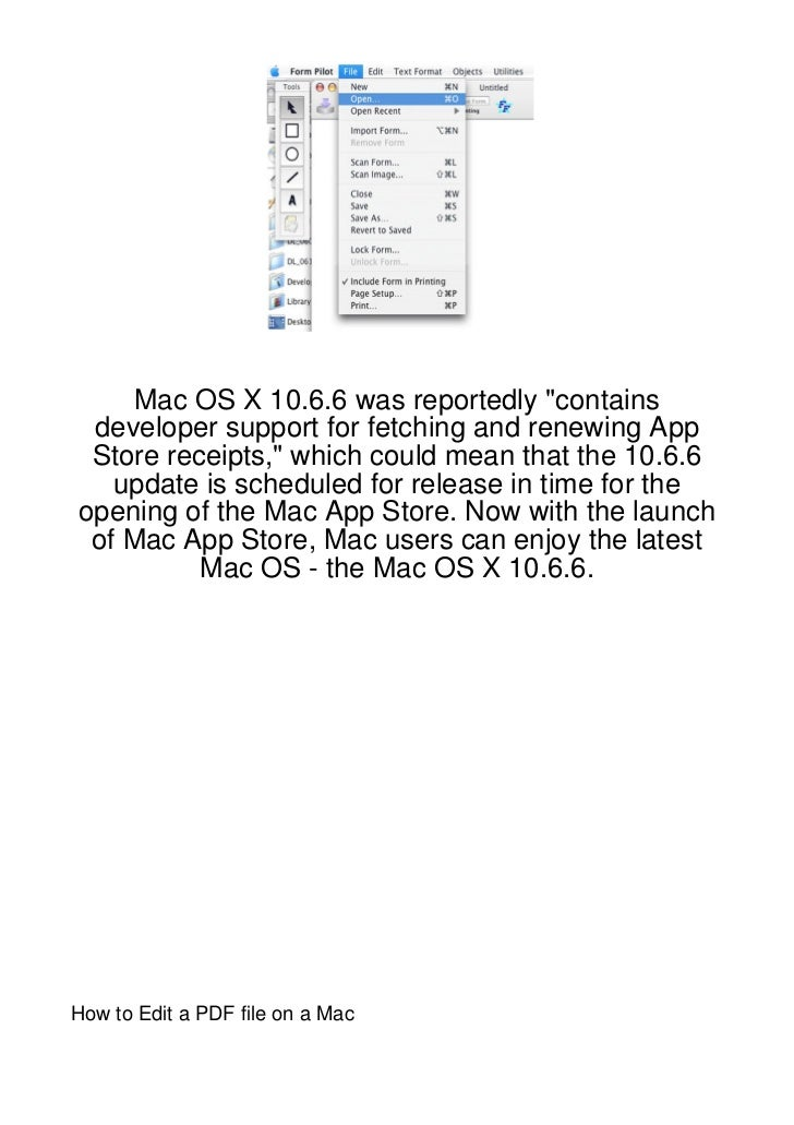 "Mac OS X 10.6.6 was reportedly ""contains developer support for fetching and renewing App Store receipts,"" which could mean..."