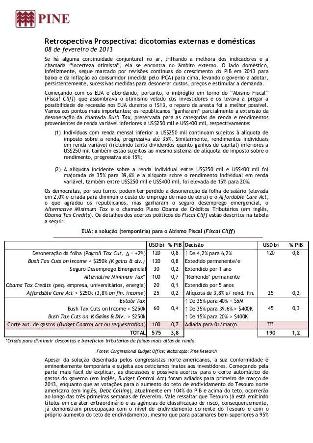 Retrospectiva Prospectiva: dicotomias externas e domésticas                 08 de fevereiro de 2013                 Se há ...