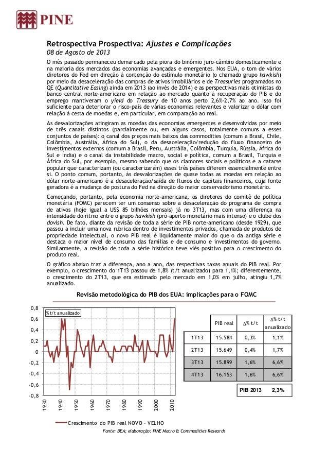 Retrospectiva Prospectiva: Ajustes e Complicações 08 de Agosto de 2013 O mês passado permaneceu demarcado pela piora do bi...