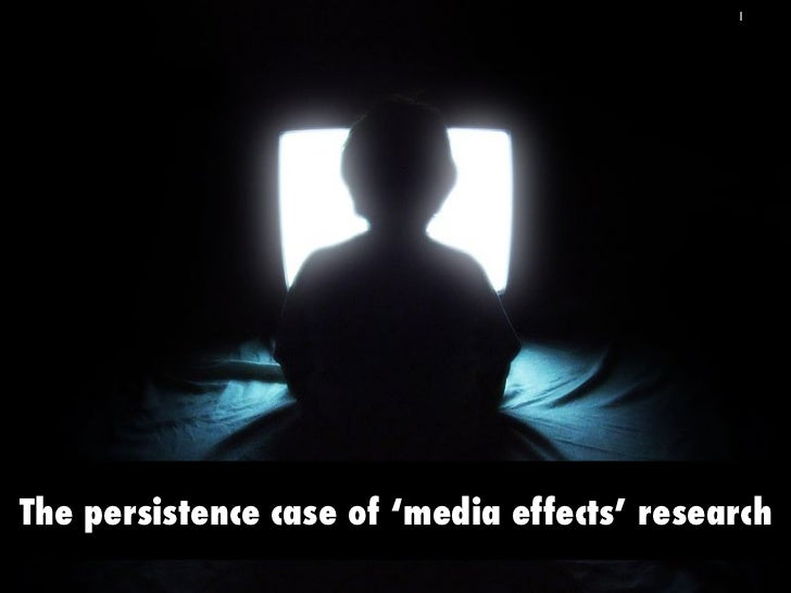 1The persistence case of 'media effects' research