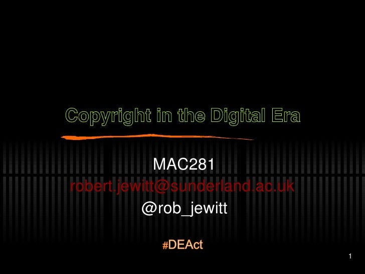 MAC281 r [email_address]   @rob_jewitt