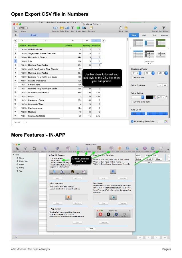 Access Database Manager fro Mac
