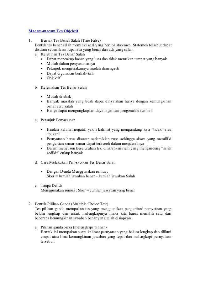 Contoh Soal Benar Salah Kumpulan Soal Pelajaran 3