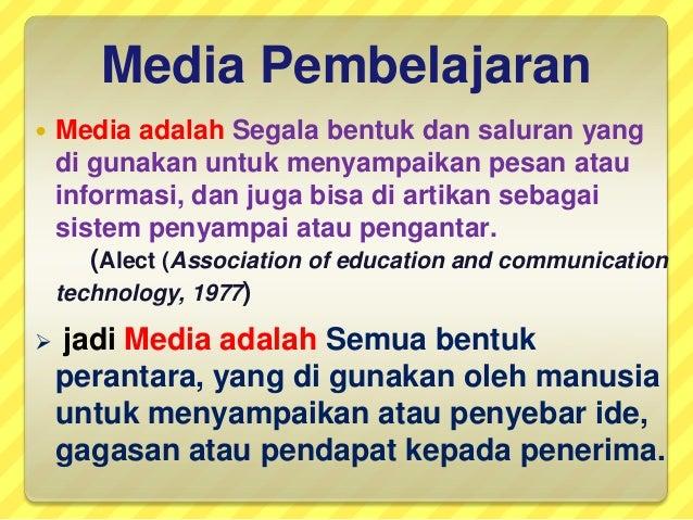 Macam Macam Alat Media Pembelajaran Dan Karakteristiknya