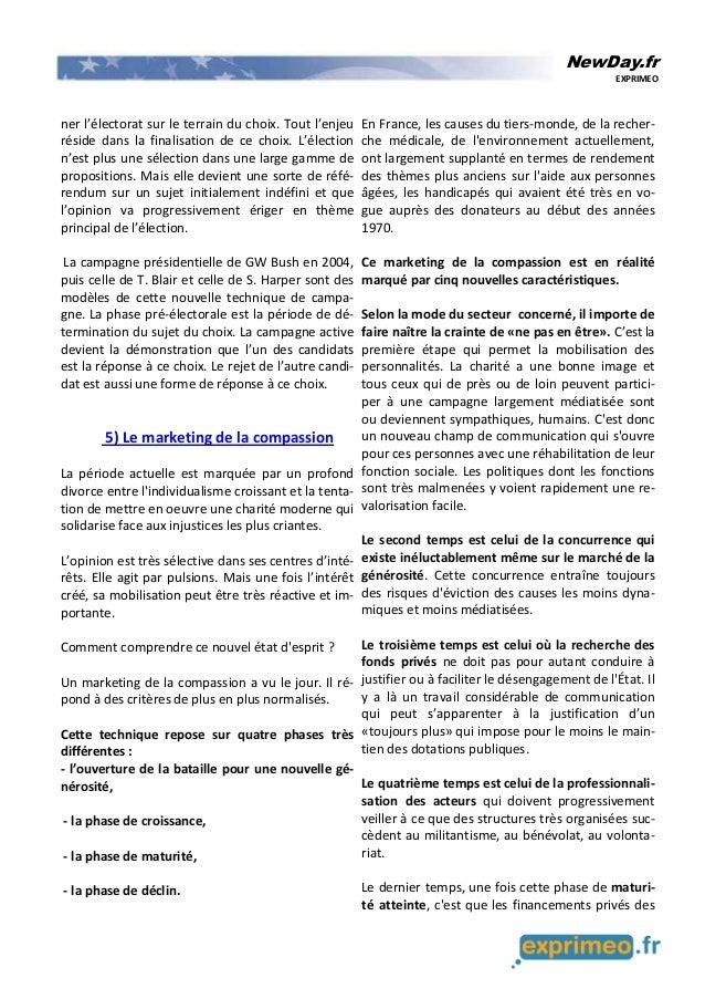 NewDay.fr EXPRIMEO ner l'électorat sur le terrain du choix. Tout l'enjeu réside dans la finalisation de ce choix. L'électi...