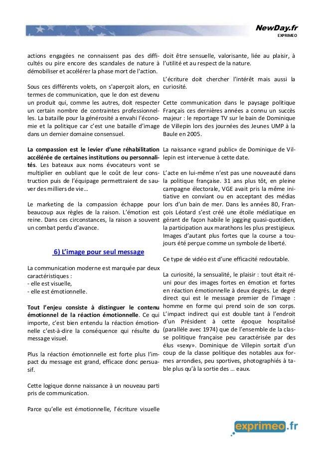 NewDay.fr EXPRIMEO actions engagées ne connaissent pas des diffi- cultés ou pire encore des scandales de nature à démobili...