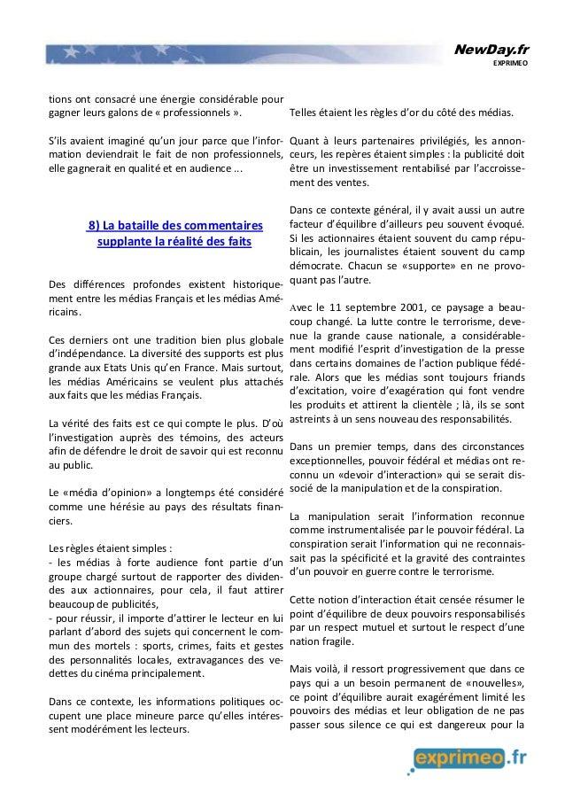 NewDay.fr EXPRIMEO tions ont consacré une énergie considérable pour gagner leurs galons de « professionnels ». S'ils avaie...