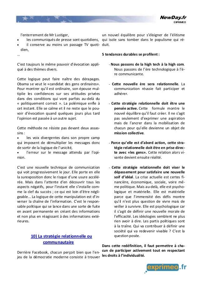 NewDay.fr EXPRIMEO l'enterrement de Mr Lustiger, • les communiqués de presse sont quotidiens, • il conserve au moins un pa...