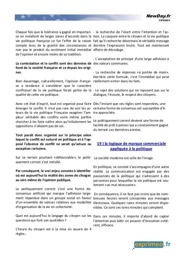 NewDay.fr EXPRIMEO Chaque fois que la tolérance a gagné en importan- ce en installant de larges zones d'accords dans la vi...