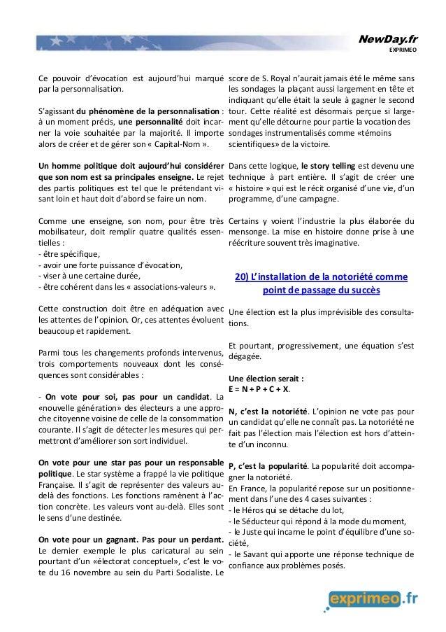 NewDay.fr EXPRIMEO Ce pouvoir d'évocation est aujourd'hui marqué par la personnalisation. S'agissant du phénomène de la pe...
